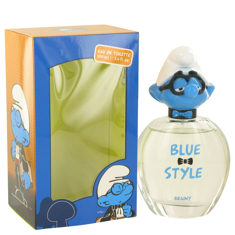The Smurfs by Smurfs for Men Blue Style Brainy Eau De Toilette Spray 3.4 oz
