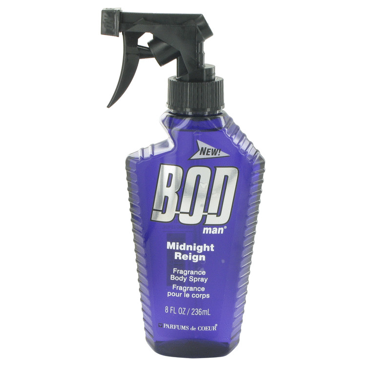 Bod Man Midnight Reign by Parfums De Coeur for Men Body Spray 8 oz
