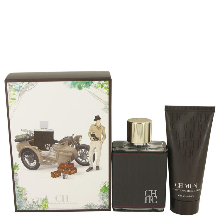CH Carolina Herrera by Carolina Herrera for Men Gift Set -- 3.4 oz Eau De Toilette Spray + 3.4 oz After Shave Balm