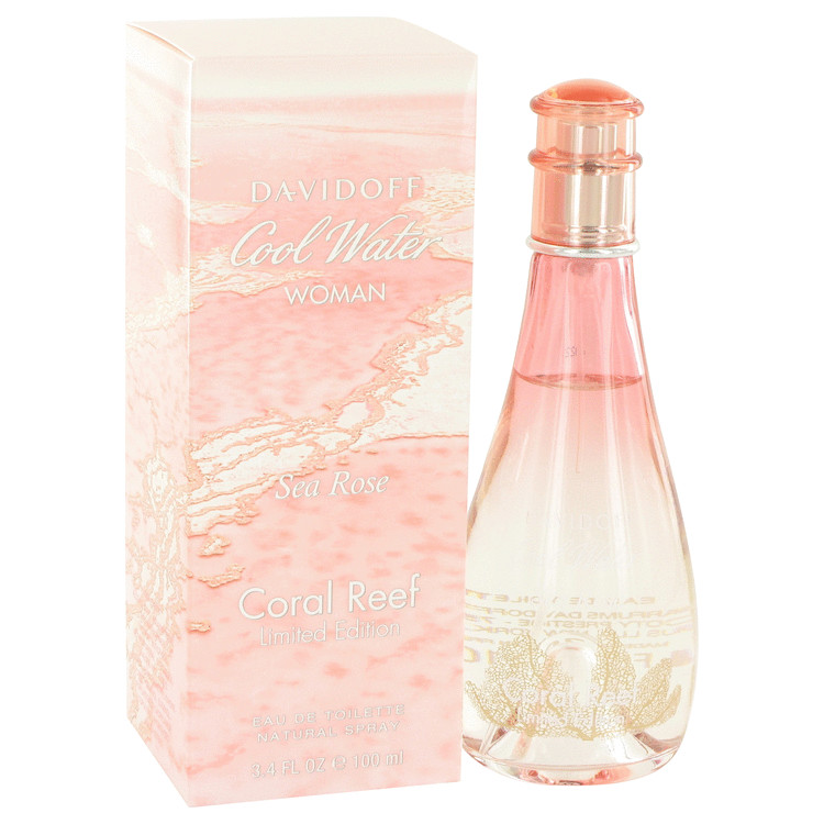 Cool Water Sea Rose Coral Reef by Davidoff for Women Eau De Toilette Spray (Limited Edition) 3.4 oz