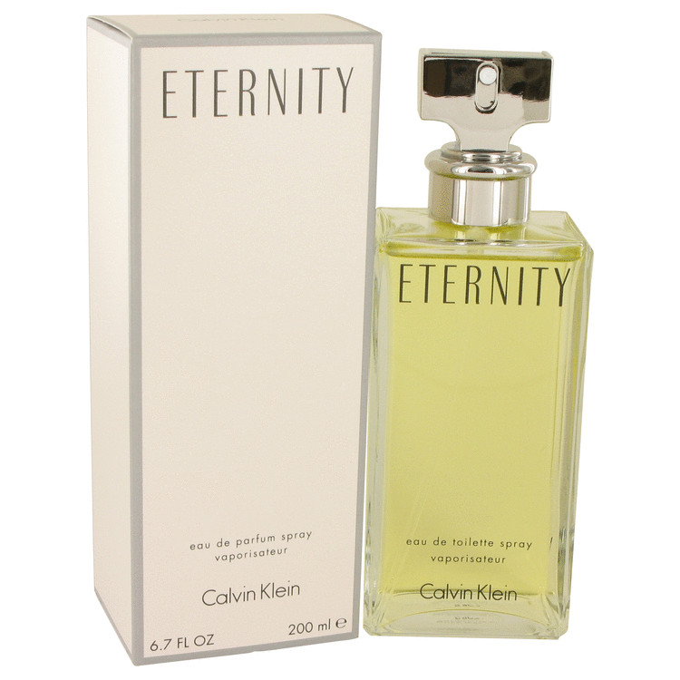 ETERNITY by Calvin Klein for Women Eau De Parfum Spray 6.7 oz
