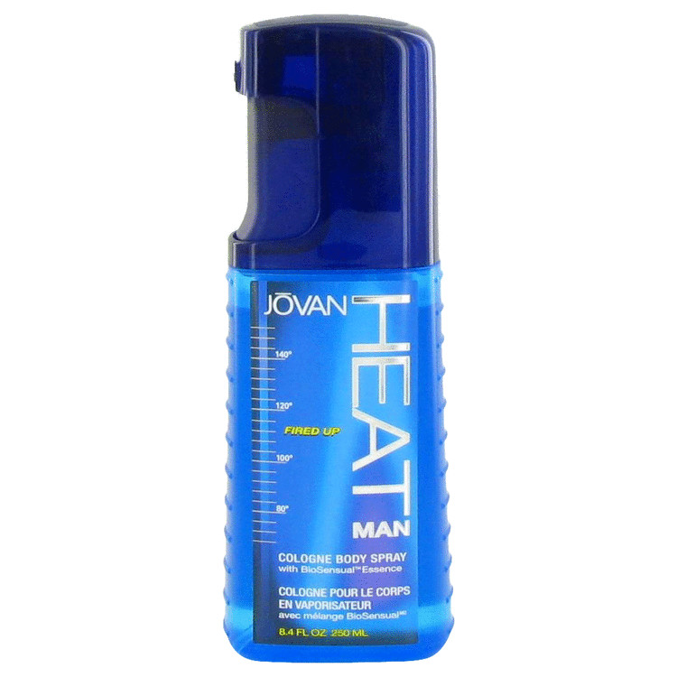 Jovan Heat Fired Up by Jovan for Men Cologne Body Spray with Biosensual Essence (Damaged Box) 8.4 oz