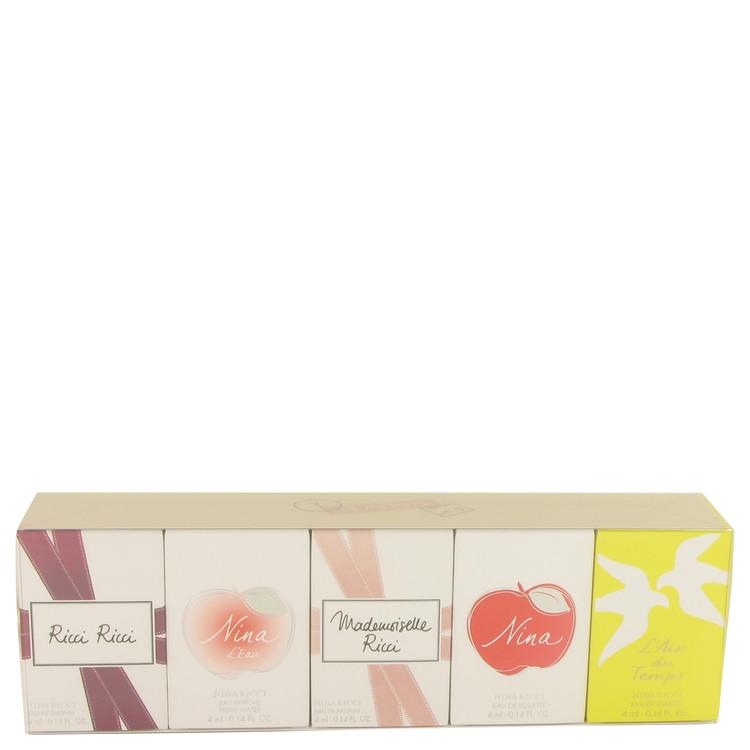 L'AIR DU TEMPS by Nina Ricci for Women Gift Set -- Five piece mini set includes Ricci Ricci, Nina L'eau, Mademoiselle Ricci, Nin
