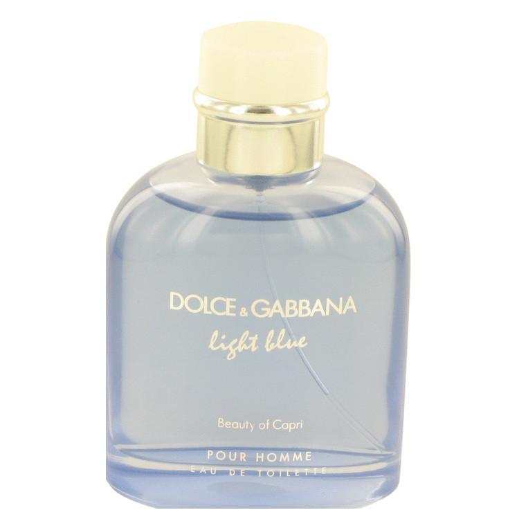 Light Blue Beauty of Capri by Dolce & Gabbana for Men Eau De Toilette Spray (Tester) 4.2 oz