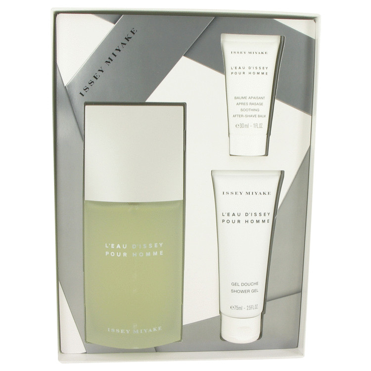 L'EAU D'ISSEY (issey Miyake) by Issey Miyake for Men Gift Set -- 4.2 oz Eau De Toilette Spray + 2.5 oz Shower Gel + 1 oz After S