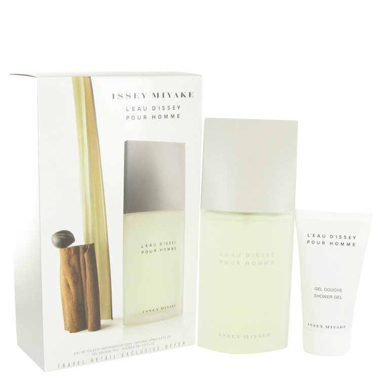 L'EAU D'ISSEY (issey Miyake) by Issey Miyake for Men Gift Set -- 4.2 oz Eau De Toilette Spray + 2.5 oz Shower Gel