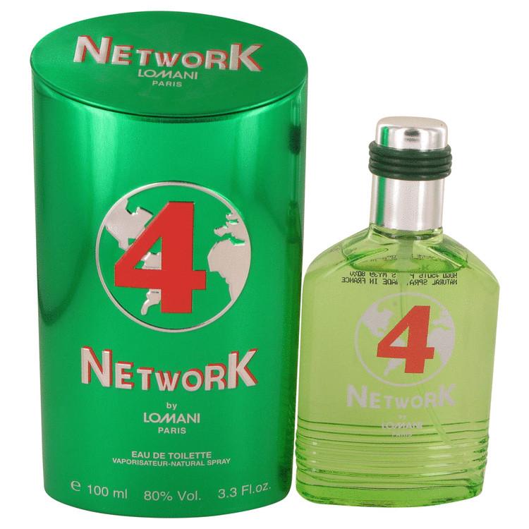 Lomani Network 4 Green by Lomani for Men Eau De Toilette Spray 3.3 oz