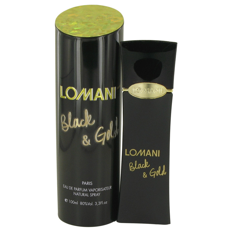 Lomani Black & Gold by Lomani for Women Eau De Parfum Spray 3.4 oz