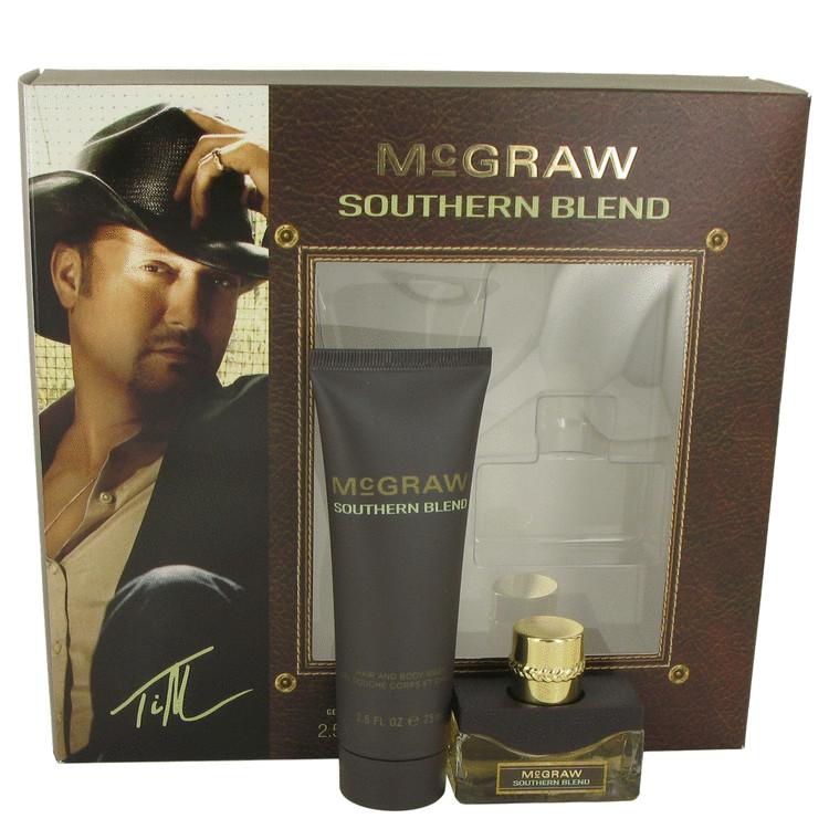 McGraw Southern Blend by Tim McGraw for Men Gift Set -- .5 oz Eau De Toilette Spray + 2.5 oz Hair & Biody Wash