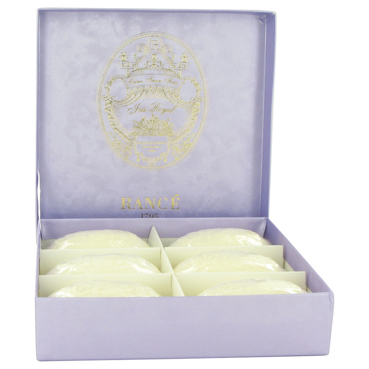 Rance Soaps by Rance for Women Iris Royal Soap Box 6 x 3.5 oz