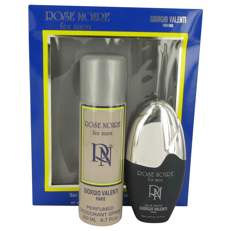 ROSE NOIRE by Giorgio Valenti for Men Gift Set -- 3.4 oz Eau De Toilette Spray + 6.7 oz Deodarant Spray