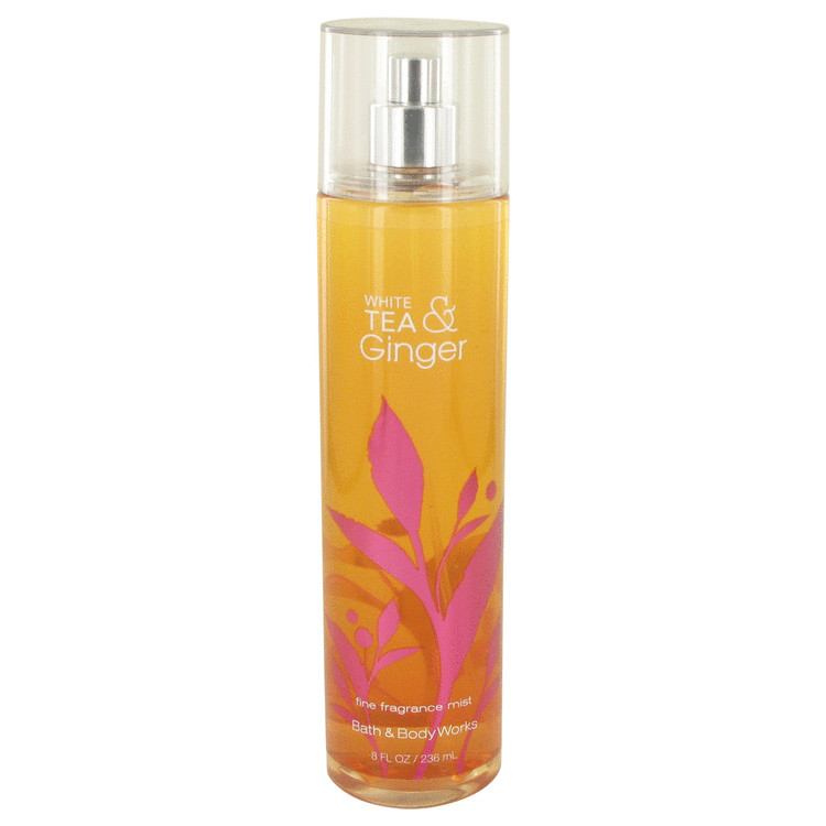 White Tea and Ginger by Bath & Body Works for Women Body Mist Spray Infused with Real White Tea and Ginger Extracts 8 oz