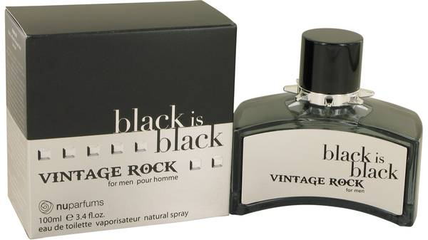 Black Is Black Vintage Rock Cologne