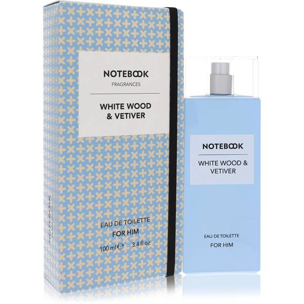 Notebook White Wood & Vetiver Cologne