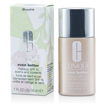 Clinique Make Up 1 oz Even Better Makeup SPF15 (Dry Combination to Combination Oily) - No. 03 Ivory no add code
