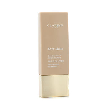 Clarins Make Up 1.1 oz Ever Matte Skin Balancing Oil Free Foundation SPF 15 - # 114 Cappuccino