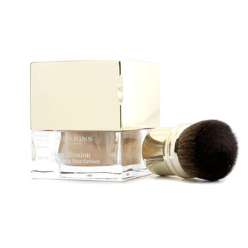 Clarins Make Up 0.4 oz Skin Illusion Mineral & Plant Extracts Loose Powder Foundation (With Brush) - # 112 Amber