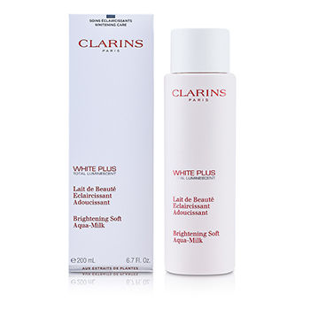 Clarins Skincare 6.7 oz White Plus Total Luminescent Brightening Soft Aqua-Milk