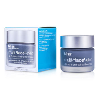 Bliss Skincare 2.3 oz Multi-Face-Eted All-In-One Anti-Aging Clay Mask