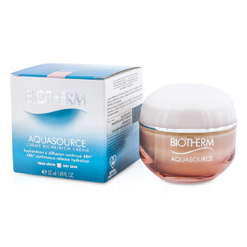 Biotherm Skincare 1.69 oz Aquasource 48H Continuous Release Hydration Rich Cream (Dry Skin)