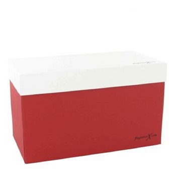 Gift Box Skincare 8 x 4 x 4.75 FragranceX Two Piece Maroon and White Gift Box