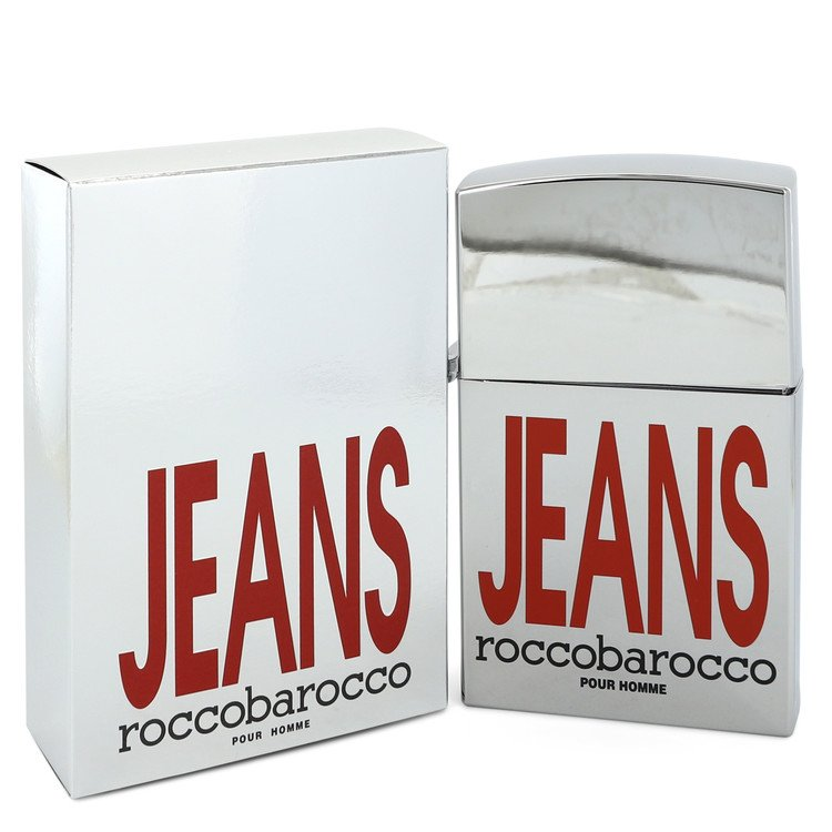 Rocco Barocco Silver Jeans Cologne 75 ml Eau De Toilette Spray (new packaging) for Men