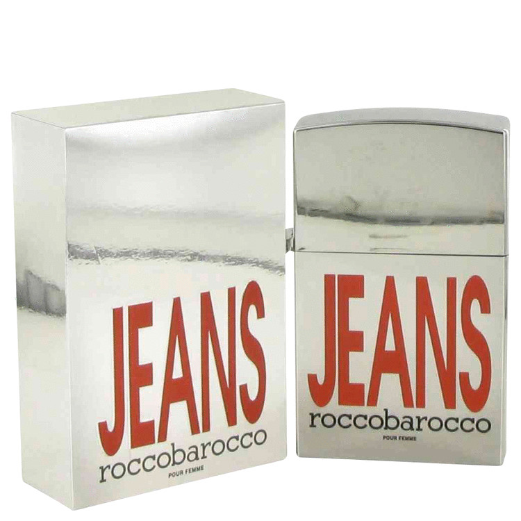 Rocco Barocco Silver Jeans Perfume 2.5 oz EDT Spray (new packaging) for Women