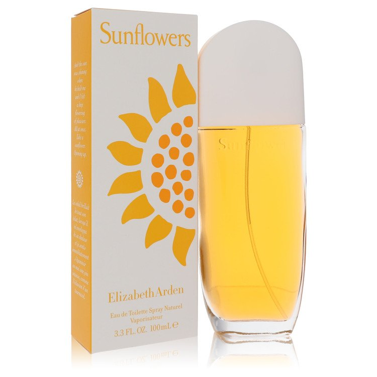 Sunflowers Gift Set -- Gift Set - 1 oz Eau De Toilette Spray + 8 oz Bath & Shower Gel + Bath Tote & Sponge for Women