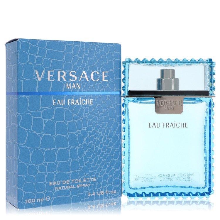 Versace Man Gift Set -- Gift Set - 3.4 oz Eau De Toilette Spray + 3.4 oz After Shave Balm for Men