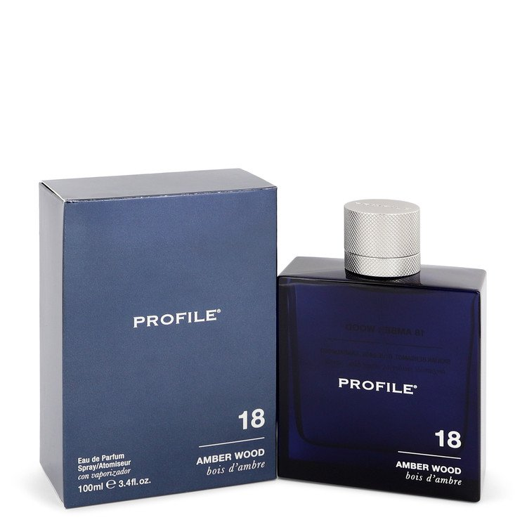 18 Amber Wood by Profile –  Eau De Parfum Spray 3.4 oz 100 ml for Men