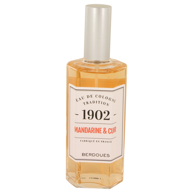 1902 Mandarine Leather by Berdoues Eau De Cologne Spray (Unisex-unboxed)) 4.2 oz