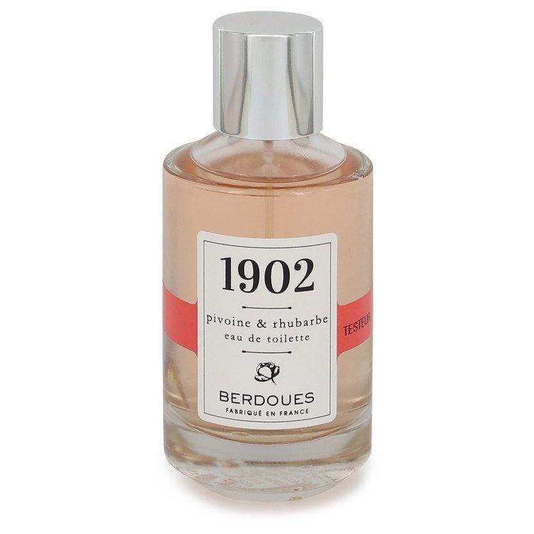 1902 Pivoine & Rhubarbe by Berdoues Eau De Toilette Spray (Tester) 3.38 oz