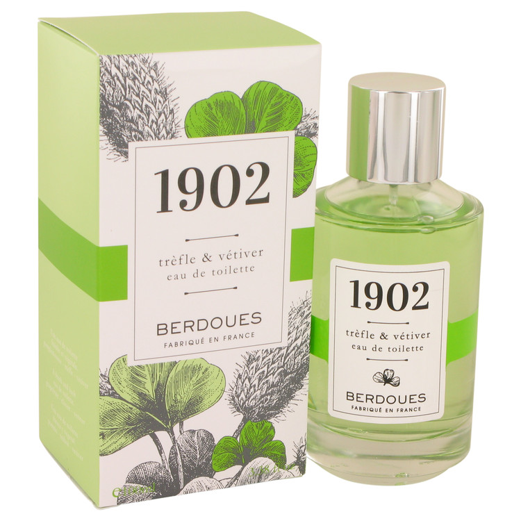 1902 Trefle & Vetiver by Berdoues for Women Eau De Toilette Spray 3.38 oz
