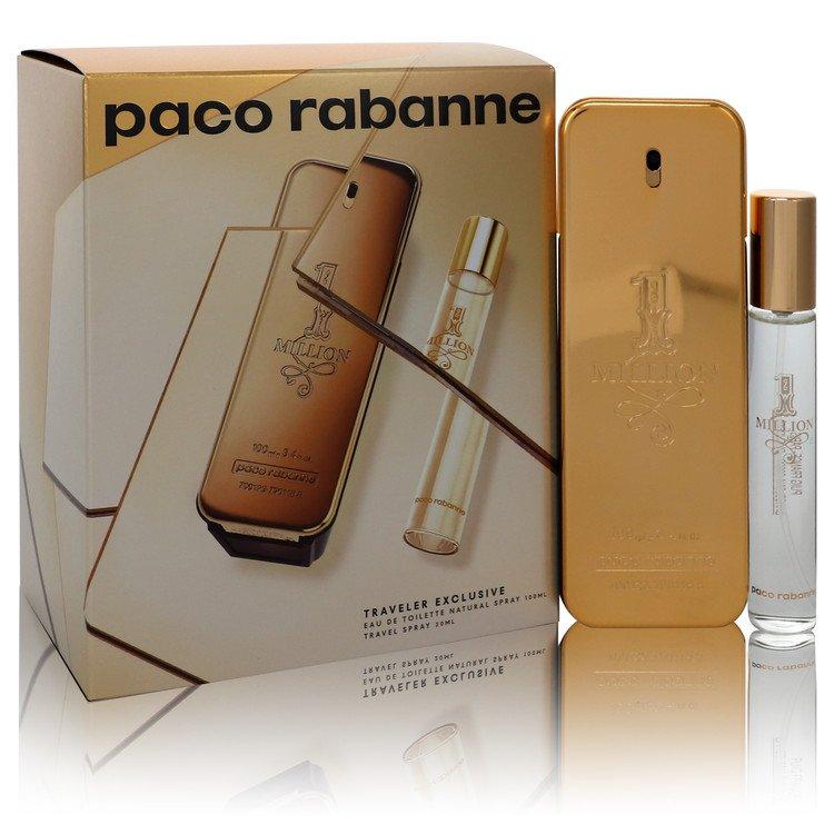 1 Million by Paco Rabanne –  Gift Set — 3.4 oz Eau de Toilette Spray + .68 oz Travel Spray  — for Men