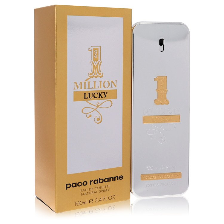 1 Million Lucky by Paco Rabanne for Men Eau De Toilette Spray 3.4 oz
