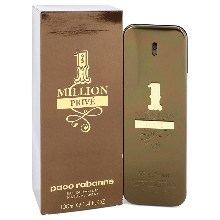 1 Million Prive by Paco Rabanne for Men Eau De Parfum Spray 3.4 oz