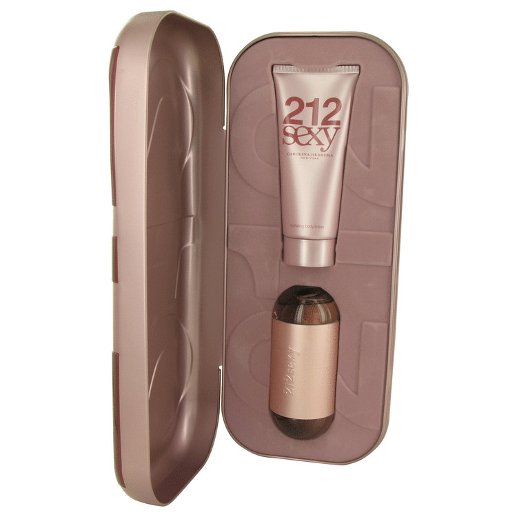 212 Sexy Gift Set -- Gift Set - 2 oz Eau De Parfum Spray + 3.4 oz Body Lotion for Women