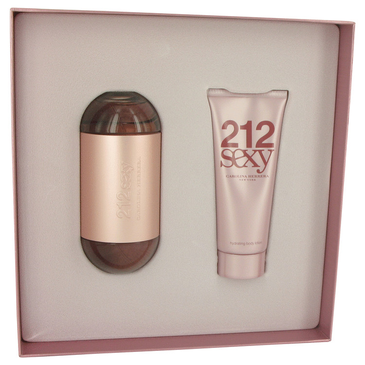 212 Sexy Gift Set -- Gift Set - 3.4 oz Eau De Parfum Spray + 3.4 oz Body Lotion for Women