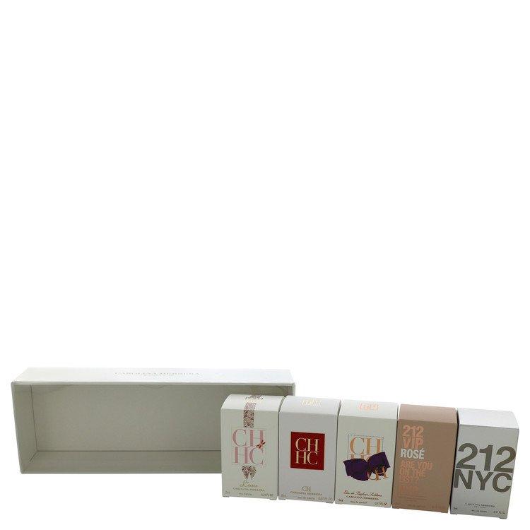 212 Gift Set -- Gift Set - Deluxe Travel Gift Set Includes .24 oz CH L'eau, .27 oz CH,  .17 oz Ch Eau De Parfum Sublime,.17 oz 212, and .17 oz 212 Vip