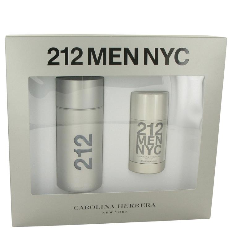 212 Gift Set -- Gift Set - 3.4 oz Eau De Toilette Spray + 2.1 oz Deodorant Stick for Men