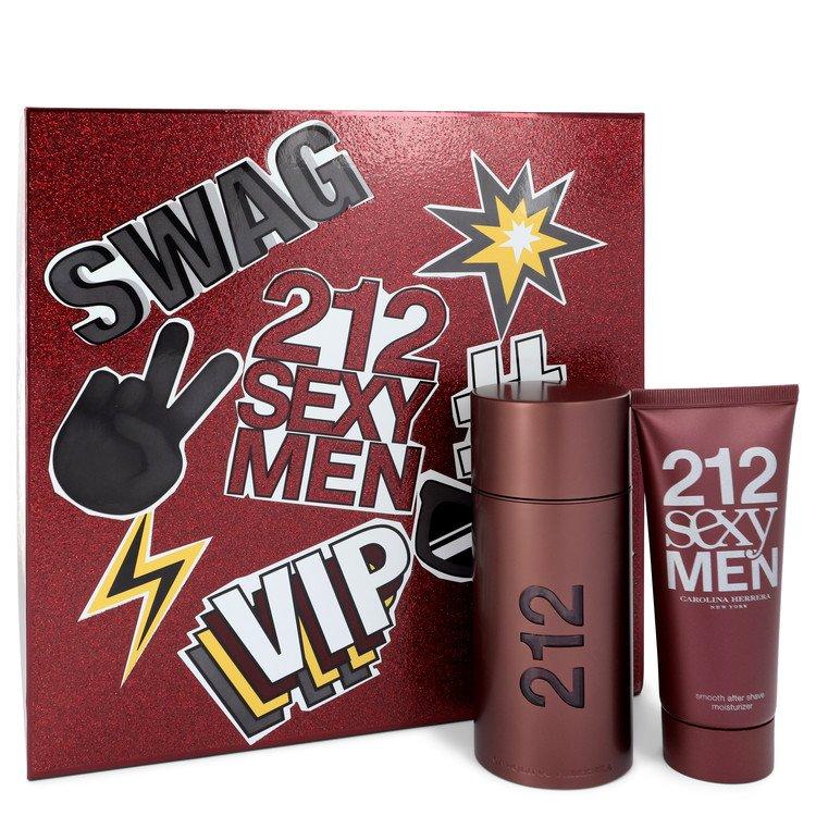 212 Sexy Gift Set -- Gift Set - 3.4 oz Eau De Toilette Spray + 3.4 oz After Shave Moisturizer for Men