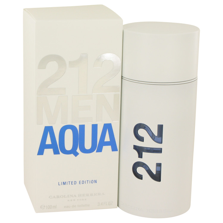 212 Aqua by Carolina Herrera for Men Eau De Toilette Spray 3.4 oz