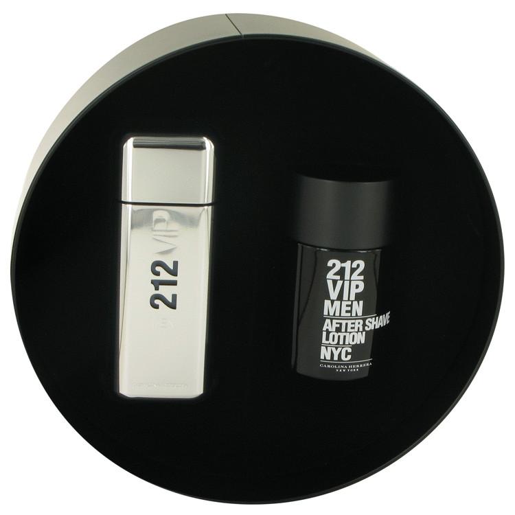 212 Vip for Men, Gift Set (3.4 oz EDT Spray + 3.4 oz After Shave Lotion)