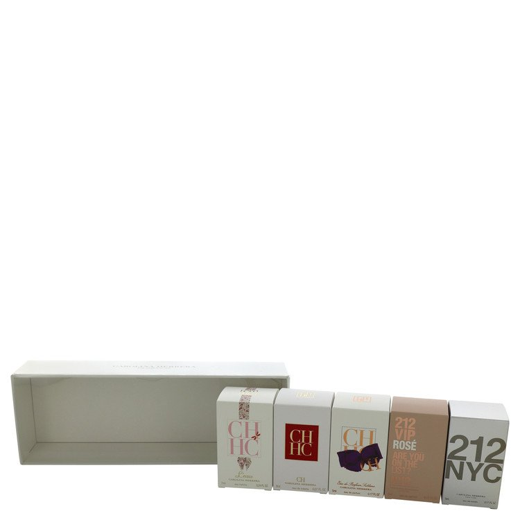 212 for Women, Gift Set (Deluxe Travel Gift Set Includes .24 oz CH L'eau, .27 oz CH,  .17 oz Ch EDP Sublime,.17 oz 212, and .17 oz 212 Vip Rose)