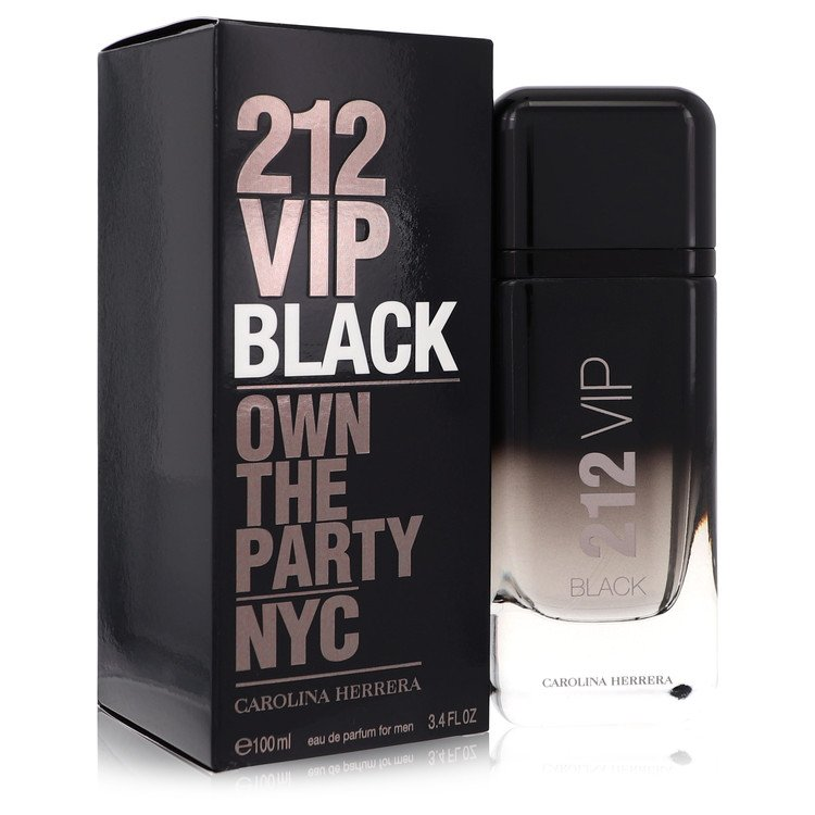 212 Vip Black Cologne by Carolina Herrera 3.4 oz EDP Spay for Men