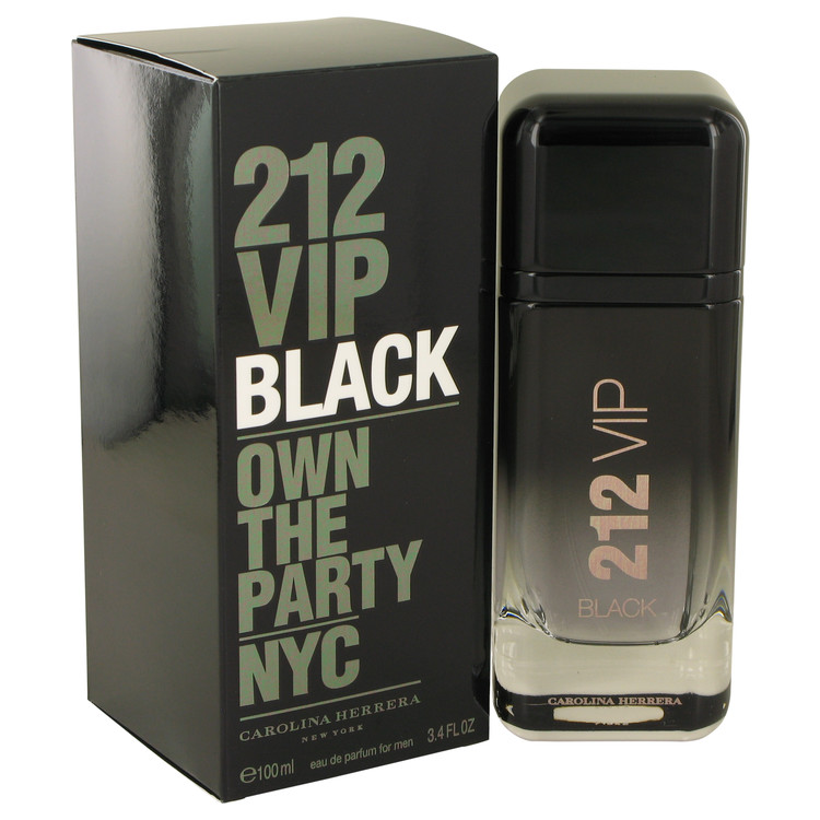 212 VIP Black by Carolina Herrera by Carolina Herrera – Eau De Parfum Spray 3.4 oz 100 ml for Men