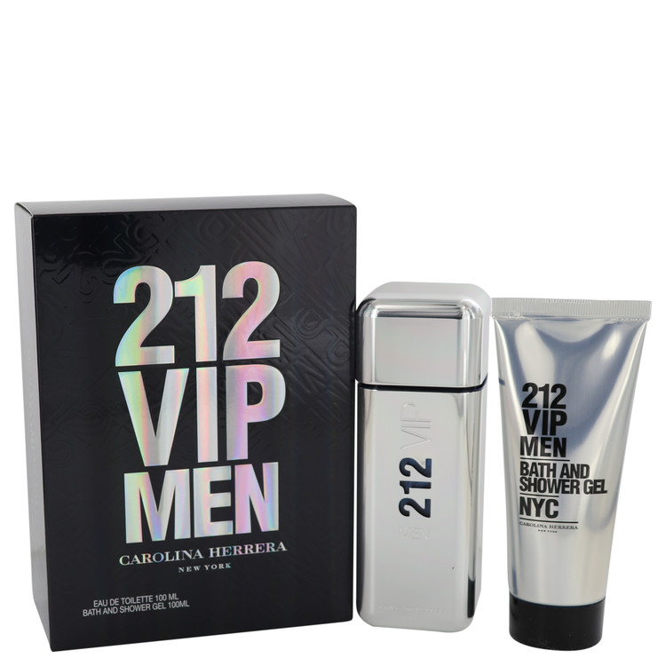 212 Vip for Men, Gift Set (3.4 oz EDT Spray + 3.4 oz Shower Gel)
