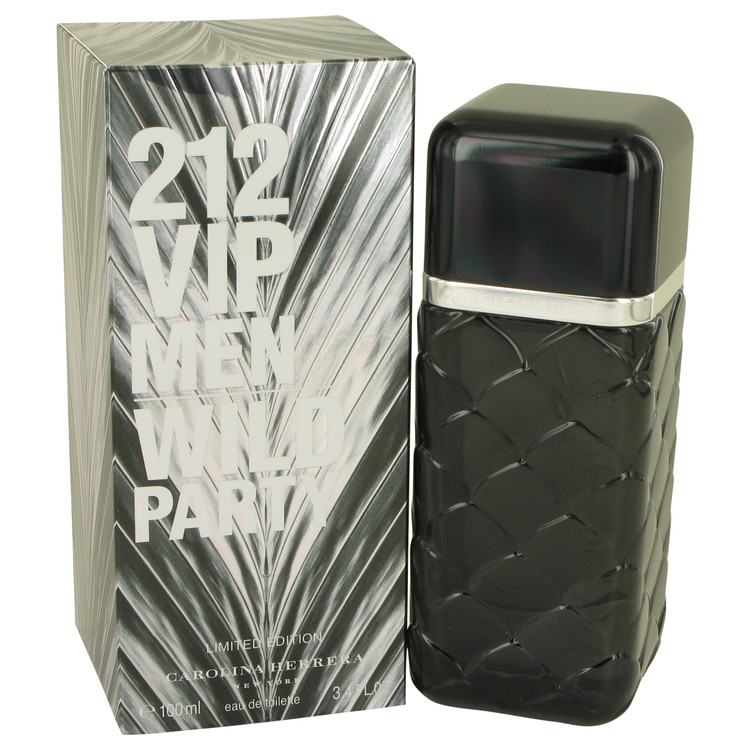 212 Vip Wild Party Cologne by Carolina Herrera 3.4 oz EDT Spay for Men