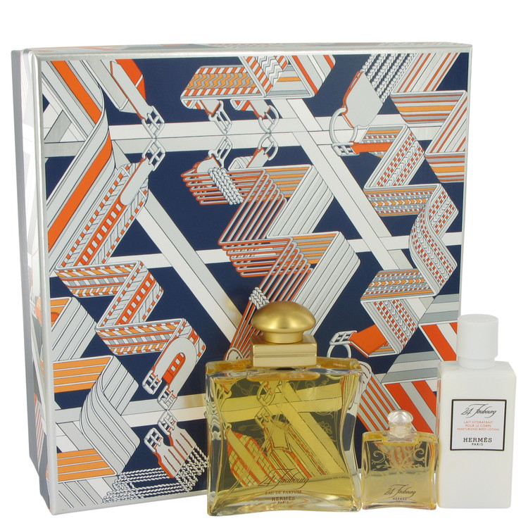 24 Faubourg by Hermes Women's Gift Set -- 1.6 oz Eau De Parfum Spray + 1.35 oz Body Lotion + .25 oz Mini EDP