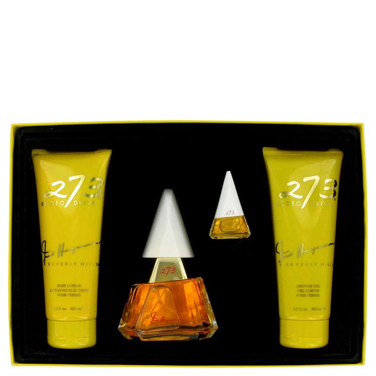 273 Gift Set -- Gift Set - 2.5 oz Eau De Parfum Spray + 6.7 oz Body Lotion + 6.7 oz Shower Gel + .12 oz Mini EDP for Women